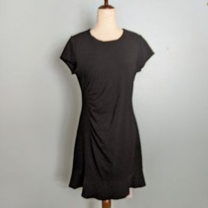 NWT black short sleeve ruched side dress 12P